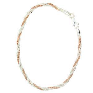 Twisted Rose gold plate & Sterling Silver Bracelet