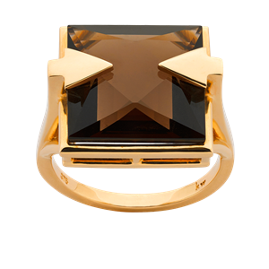 <p>Available in 9 carat yellow, rose gold and sterling silver.</p> <p>Available with smoky quartz.</p>