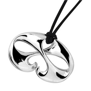 <p>Stylised Ara i te Ora (The Path of Life) with tough leather cord or Sterling Silver chain.</p>
