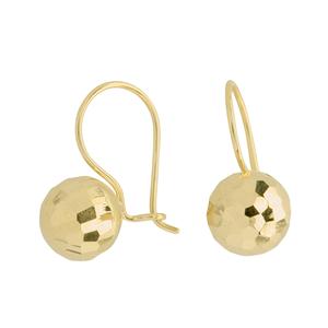<p>9 carat yellow gold earrings</p>