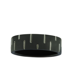 <p>Zirconium Pattern Band</p>