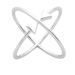 <p>Atomic arrows ring</p>