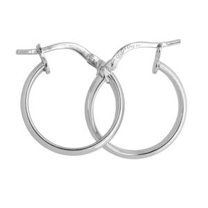 9ct silver filled 9W Earrings, 15mm diameter & 2.5mm width