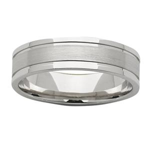 <p>6mm white gold polished &amp; sanded ring</p>