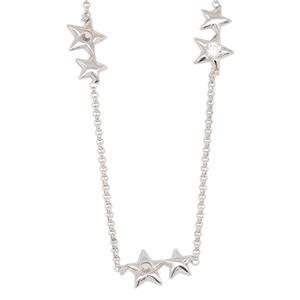 Bassano Italian Fashion - Sterling Siler, Rhodium Plated STAR bracelet