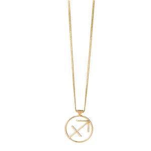<p>Sagittarius necklace available in yellow gold, rose gold and sterling silver.</p>