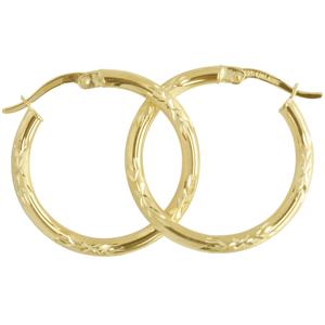 <p>9ct silver filled 9Y Earrings, 20mm diameter &amp; 2.3mm width</p>