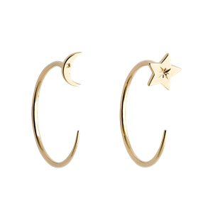 <p>Moon and Star Hoops</p>