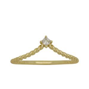 <p>9ct yellow gold Cubic Zirconia Ring</p>