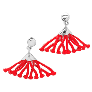 <p>Pohutukawa flower earrings and box.</p>
