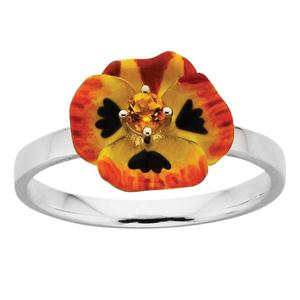 <p>ENAMEL FLOWER RING.3MM CITRINE</p>
