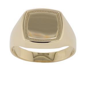 <p>Beaded Square Top Signet Ring</p>