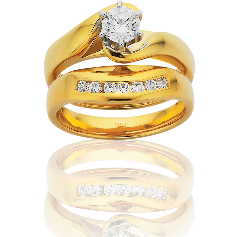 Diamond Engagement Ring – DD322W/50 & LD803