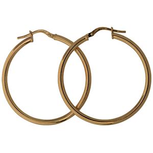 <p>9ct silver filled 9CT ROSE Earrings, 30mm diameter &amp; 2mm width</p>