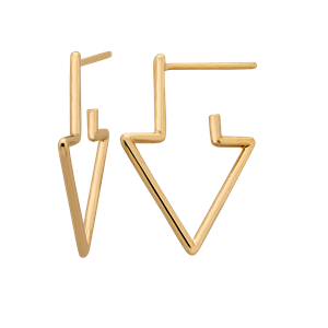 <p>Runaway arrow earrings.</p>
