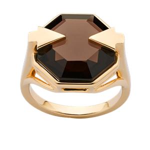 <p>Astrid ring with smoky quartz</p>