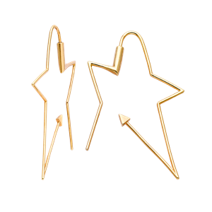 <p>Ziggy hoops available in yellow gold, rose gold and sterling silver</p>
