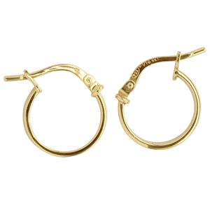 <p>9ct yellow gold Silver Filled Hoop Earrings</p> <p>Measures 10mm across by 2mm wide</p>