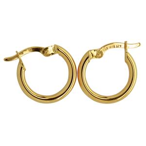 9ct silver filled 9CT ROSE Earrings, 10mm diameter & 2mm width