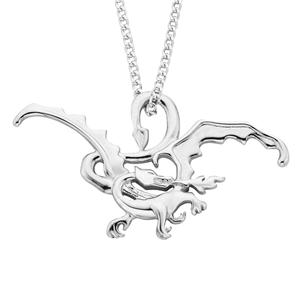 <p>Smaug the Magnificent pendant.<br /> <br /> Smaug the Magnificent is one of the last great dragons of Middle Earth. One hundred and fifty years ago he conquered the Dwarf kingdom of Erebor and took up residence in The Lonely Mountain, laying waste to the surrounding area, including the town of Dale. This region is now known as the Desolation of Smaug.<br /> <br /> Comes with official The Hobbit pouch.</p>