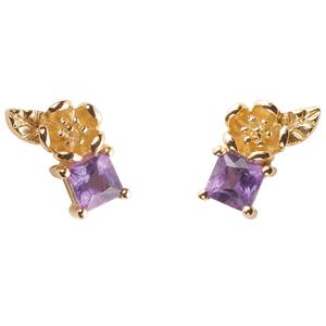 <p>&nbsp;Rock Garden Earrings - Amethyst&nbsp;</p>