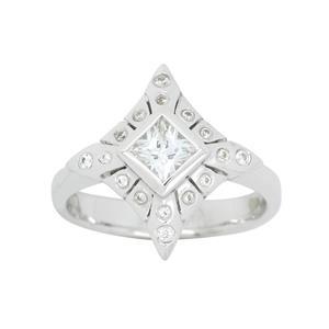 <p>White Gold Diamond Ring Total Diamond Weight 0.53ct</p>