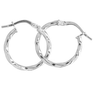 9ct silver filled 9W Earrings, 15mm diameter & 2mm width