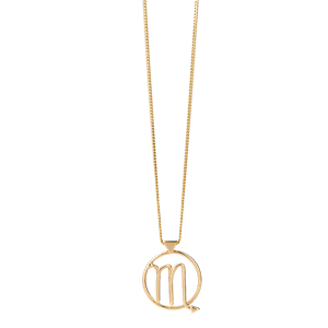 <p>Scorpio necklace available in yellow gold, rose gold and sterling silver</p>