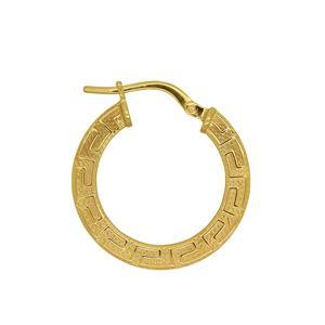 <p>9ct & Sterling SIlver Bonded Greek Key Earring</p>