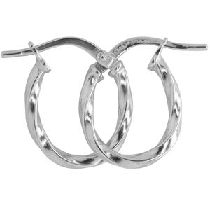 9ct silver filled 9W Earrings, 9x13mm oval & 2mm width