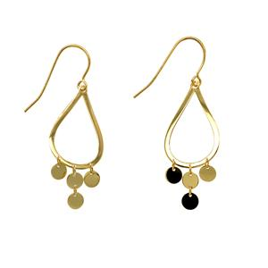 <p>9 Carat Yellow Gold and Sterling Silver Earrings</p>