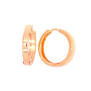 9 Carat Rose Gold and Sterling Silver Earrings