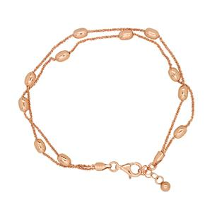 Sterling Silver, rose gold plated Bassano Collection Bracelet. Made in Italy