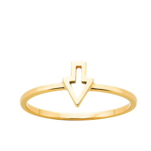 <p>Superfine runaway arrorw ring</p>
