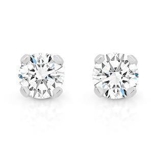 <p>White Gold Diamond Stud Earrings, Total Diamond Weight 0.20ct</p>