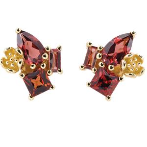 <p>Rock Garden Earrings - Garnet</p>