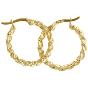 9ct silver filled 9Y Earrings, 15mm diameter & 2mm width