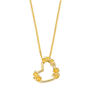 <p>SMALL BOTANICAL HEART NECKLACE</p>