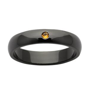 <p>Zirconium ring with citrine</p>