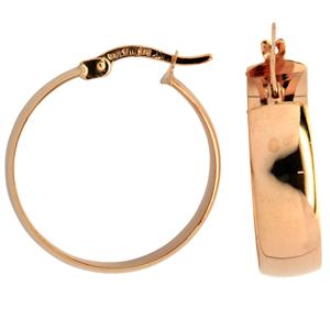 9ct silver filled 9CT ROSE Earrings, 20mm diameter & 6mm width