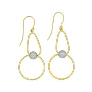 9ct and Silver Bonded earrings