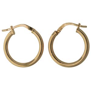 <p>9ct silver filled 9Y Earrings, 15mm diameter & 2mm width</p>