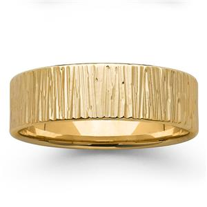 <p>7mm Bark Textured Ring</p>