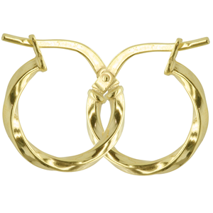 <p>9ct yellow gold Silver Filled Twisted Hoop Earrings</p> <p>Measures 10mm across by 2mm wide</p>
