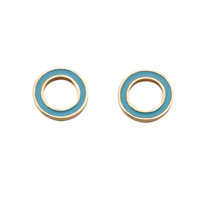 <p>Orbit enamel studs</p> <p>Available in&nbsp; 9 carat white, rose, yellow gold and sterling silver</p>