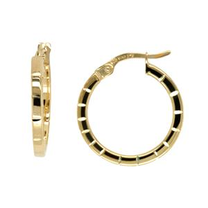 9ct Yellow and Silver Bonded Hoop Earrings