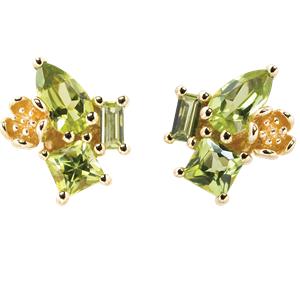 <p>Rock Garden Earrings - Peridot&nbsp;</p>