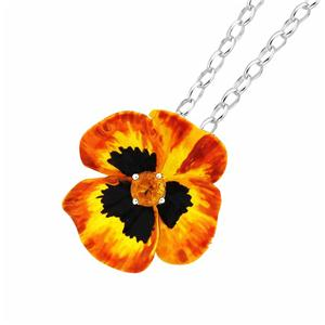 <p>ENAMEL FLOWER.5MM CITRINE</p>
