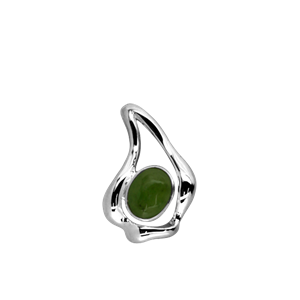 <p>Greenstone 8X6mm pendant</p>