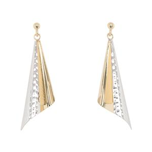 <p>9ct Yellow Gold Earrings - Rhodium Plated</p>